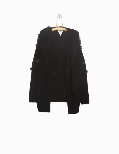 Cardigan fille long noir - IKKS Junior